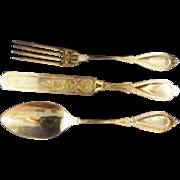Vintage Sterling Silver Fork Spoon Knife for Carrie