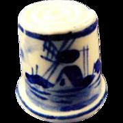 Delft Porcelain Thimble