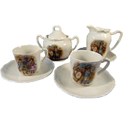 Partial German Children's China Tea Set c.1910