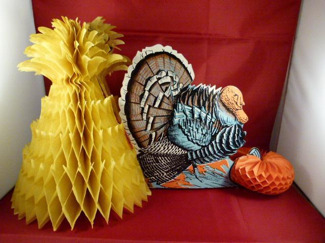 Vintage thanksgiving table centerpiece turkey pumpkin