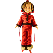 Shirley Temple Doll Heading For The Slopes Ideal 1972