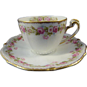 Antique Elite Limoges Demi Cup and Saucer c. 1892
