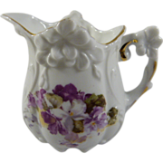 Charming Victorian Creamer with Violets