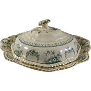 Covered Casserole Warwick Pattern John Maddock & Sons Ltd.  c. 1945