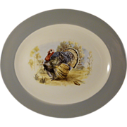 Homer Laughlin Cavalier Turkey Platter