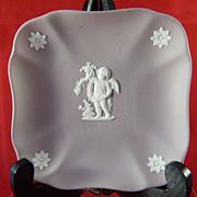 Wedgwood Lilac Jasperware Square Pin Dish