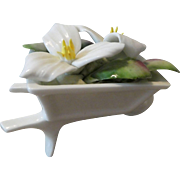 Royal Albert Bone China Wheelbarrow with Trillium Flowers