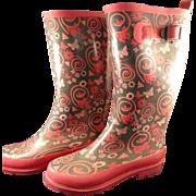 Pink Butterflies Rubber Boots