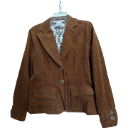 Brown Corduroy Jacket Blazer Womens Medium