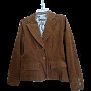 Brown Corduroy Jacket Blazer Womens Medium