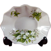 Vintage Royal Albert Trillium Pattern Oval Sweet Meat Dish Bone China