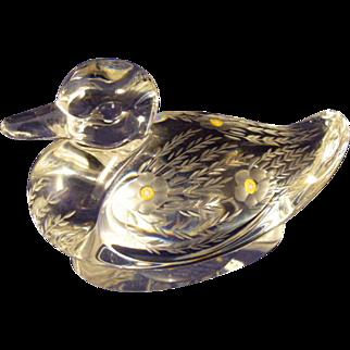 Saint-Louis Crystal Duck La Tour D'argent