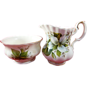 Vintage Royal Albert Trillium Bone China Sugar and Creamer