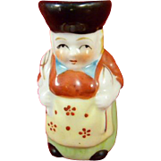 Porcelain Made in Occupied Japan Toby Jug Creamer Lady with Fork Spoon Apron