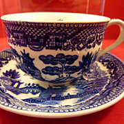 Blue Willow Cup & Saucer