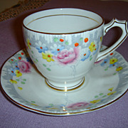 Royal Mayfair Cup and Saucer Made in England Bone China