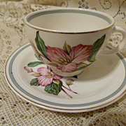 Trillium Cup and Saucer Ringwood Ware Wood & Sons England