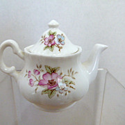 "3"" Teapot Floral Design Ashley Down English Fine Bone China"