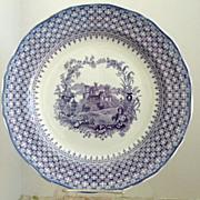 "Fabulous Minton 11.75"" Purple Transferware Chop Serving  Plate The Gem"
