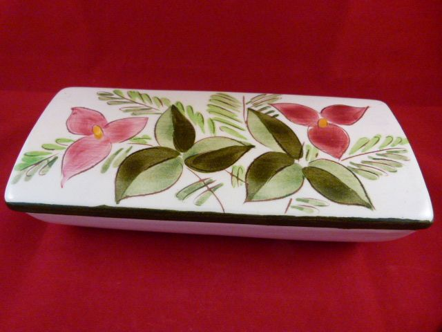 Stangl Pottery Cigarette Box Trillium Flower Design 3793 c. 1947-49