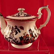 Davenport Children's Toy China English Teapot Nankin Pattern c. 1850