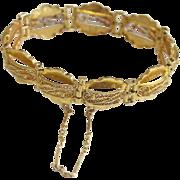 Vintage 22K High Carat Gold Filigree Bracelet – very 1950's