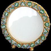 Vintage Micro Mosaic Round Photo Frame No 3 New Old Stock Pristine Rare