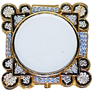 Square Photo Frame in Millefiori Micro Mosaic with Round Center – From Italy - 1960's