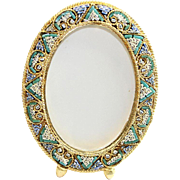 Vintage Micro Mosaic Oval Frame New Old Stock -Pristine-Rare - No 14
