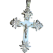 Rare - Very Early Art Nouveau Mother of Pearl and Sterling Silver Cross - Pendant First Communion Souvenir Rare - Very Early Art Nouveau Mother of Pearl and Sterling Silver Cross - Pendant First Communion Souvenir Rare - Very Early Art Nouveau Mother