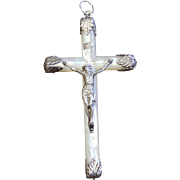 Mother of Pearl and Sterling Silver, French, 19th Century Elaborate Cross - Crucifix