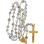 1912 Rare 18K. Gold and Rock Crystal Rosary - Late Art Nouveau.