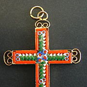 Vintage Micro Mosaic Cross - 1960'S - No 20 New Old Stock - Rare and Pristine
