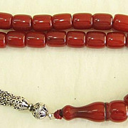EARLY XXth Century  Antique GENUINE Faturan Perfect Tesbih Prayer Beads XXXR