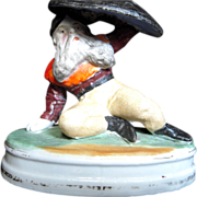 Bisque Gnome Stickpin  Holder