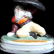 Bisque Gnome Stickpin  Holder