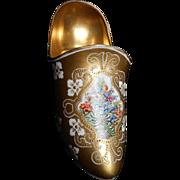 Handpainted Coalport Porcelain Shoe