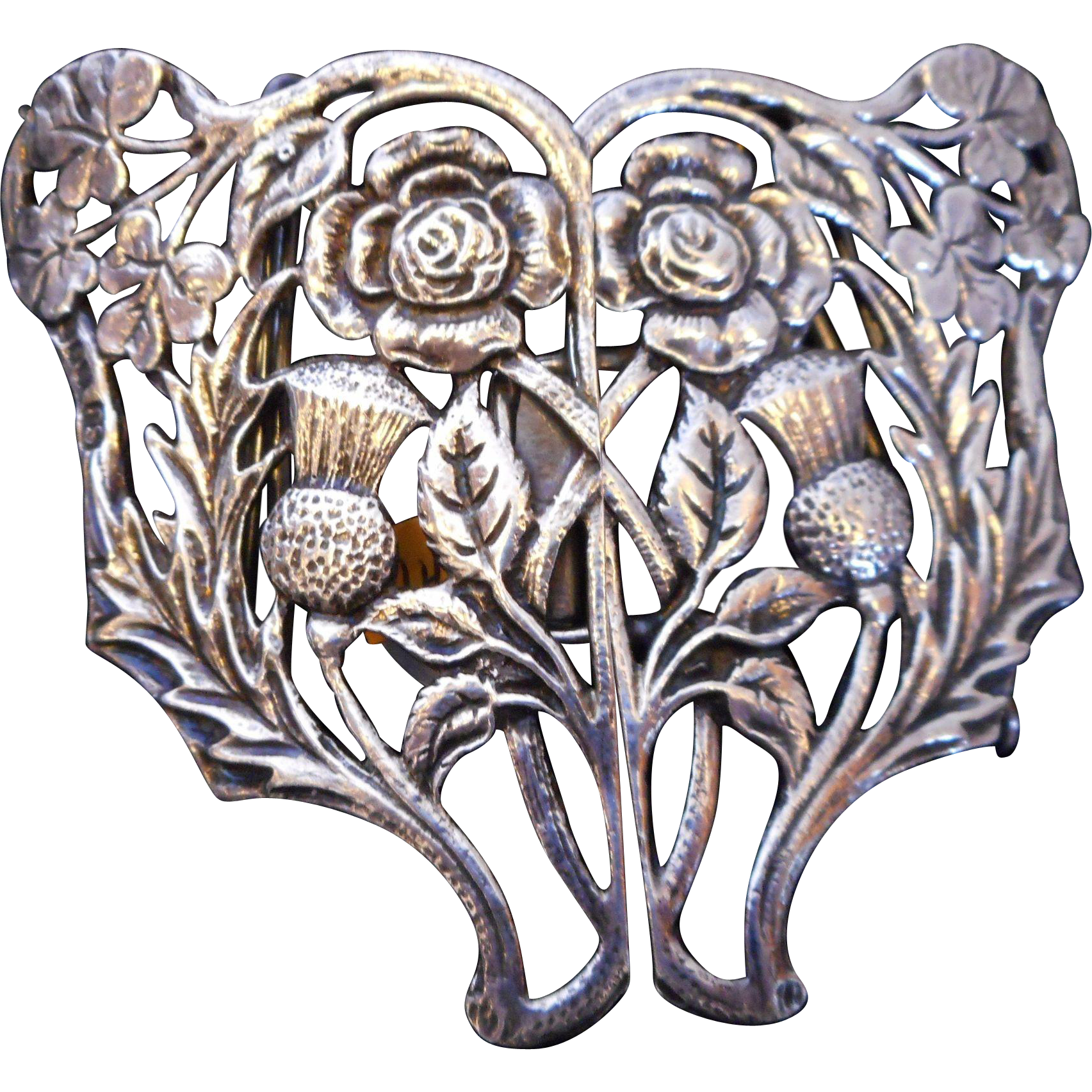 Sterling Silver Victorian Buckle