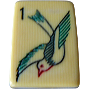 """Vintage """"FRENCH IVORY - 2-TONE"""" Mah Jong game - gorgeous tiles to play with !"""
