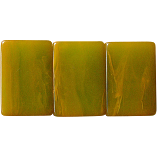 """Extremely RARE Vintage """"SWIRLED 2-TONE MJSA"""" green back Mah Jong game - the backs LOOK LIKE MARBLE"""