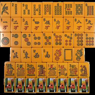 Vintage CORONET Mah Jong game - 152 tiles