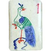 """RARE and delightful """"BONE & BAMBOO"""" Mah Jong game in a simply beautiful PAINTED LACQUERED box"""