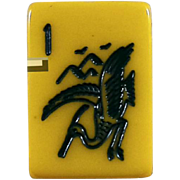 """Vintage Crane style """"ES LOWE"""" Mah Jong game - 152 tiles - Chinese or NMJL rules ready to play right out of the box!"""