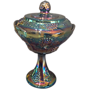 Vintage Indiana Glass Covered Compote
