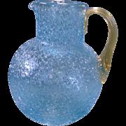 American Victorian Art Glass Pitcher