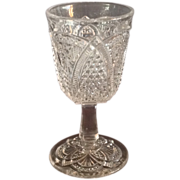 "EAPG ""Massachusetts"" Pattern Wine Glass"