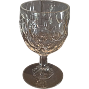 "Flint ""Mirror"" Pattern Goblet"