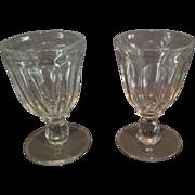 "Pair of Flint ""Flute"" Pattern Goblets"