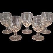 """EAPG """"Plume"""" Pattern Goblets"""