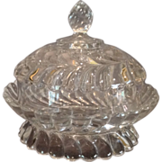 "EAPG ""Plume"" Pattern Covered Butter Dish"